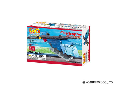 Back cover of LaQ product Hamacron Constructor MINI HELICOPTER - 1 Model, 74 Pieces