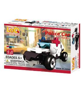 Back cover of LaQ product Hamacron Constructor Mini Police Car