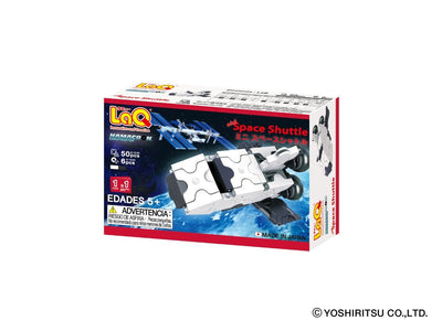 Back cover of LaQ product Hamacron Constructor MINI SPACE SHUTTLE - 1 Model, 50 Pieces