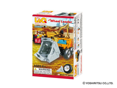 Front cover of LaQ product: Hamacron Constructor MINI WHEEL LOADER - 3 Models, 40 Pieces