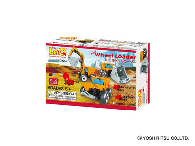 Back cover of LaQ product Hamacron Constructor MINI WHEEL LOADER - 3 Models, 40 Pieces