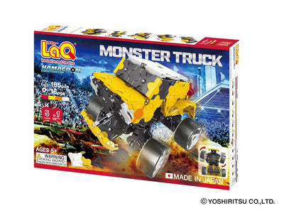 Front cover of LaQ product: Hamacron Constructor MONSTER TRUCK - 5 Models, 165 Pieces