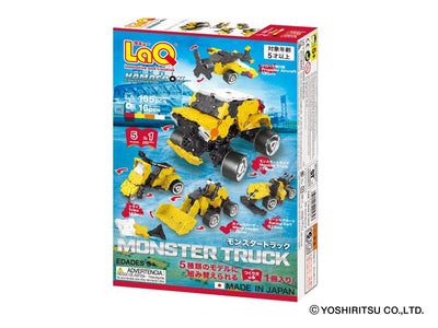 Back cover of LaQ product Hamacron Constructor MONSTER TRUCK - 5 Models, 165 Pieces