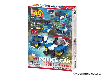 Back cover of LaQ product Hamacron Constructor Police Car