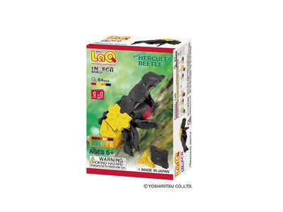 Front cover of LaQ product: Insect World Mini Hercules Beetle