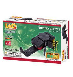 Back cover of LaQ product Insect World Mini Rhino Beetle