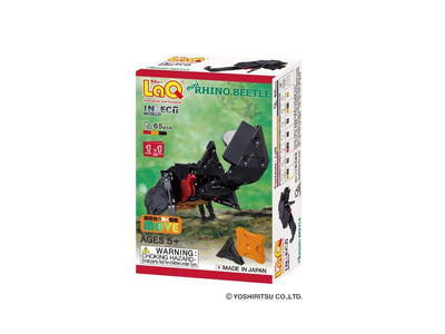 Front cover of LaQ product: Insect World Mini Rhino Beetle