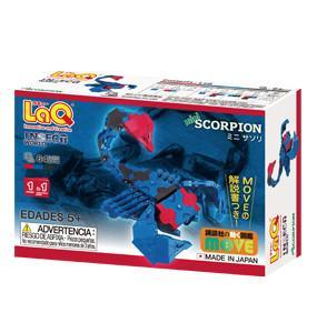 Back cover of LaQ product Insect World Mini Scorpion