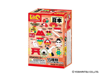 Back cover of LaQ product Japanese Collection Japanese Charms