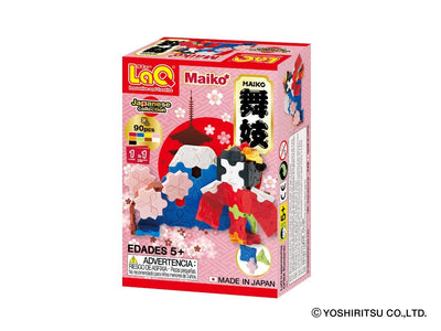 Back cover of LaQ product Japanese Collection Maiko