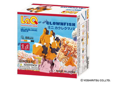 Back cover of LaQ product Marine World Mini Clownfish