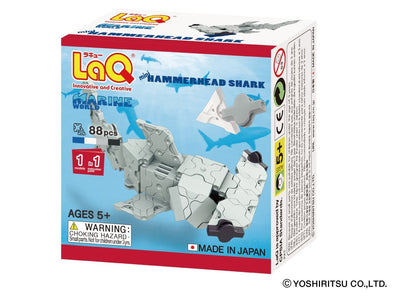 Front cover of LaQ product: Marine World Mini Hammerhead Shark