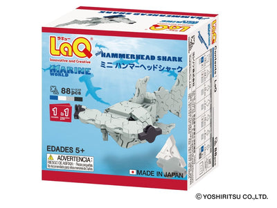 Back cover of LaQ product Marine World Mini Hammerhead Shark