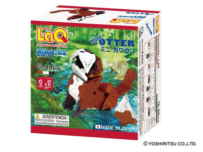 Back cover of LaQ product Marine World Mini Otter