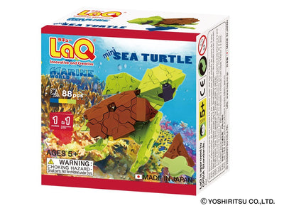Front cover of LaQ product: Marine World Mini Sea Turtle