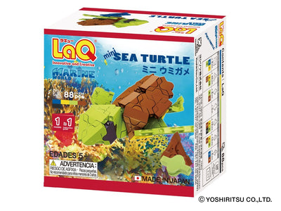 Back cover of LaQ product Marine World Mini Sea Turtle