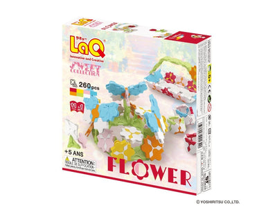 Back cover of LaQ product: Sweet Collection Flower