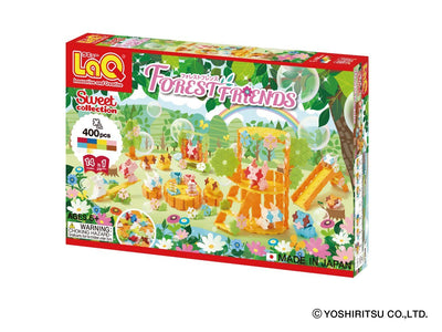Front cover of LaQ product: Sweet Collection FOREST FRIENDS - 14 Models, 400 Pieces