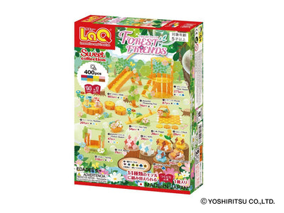 Back cover of LaQ product Sweet Collection FOREST FRIENDS - 14 Models, 400 Pieces
