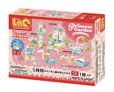 Back cover of LaQ product Sweet Collection Princess Garden