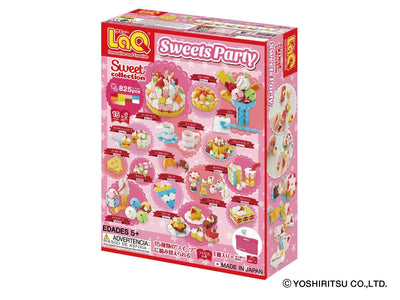 Back cover of LaQ product Sweet Collection Sweets Party