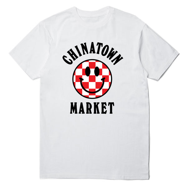 CHECKER LOGO T-SHIRT (WHITE)