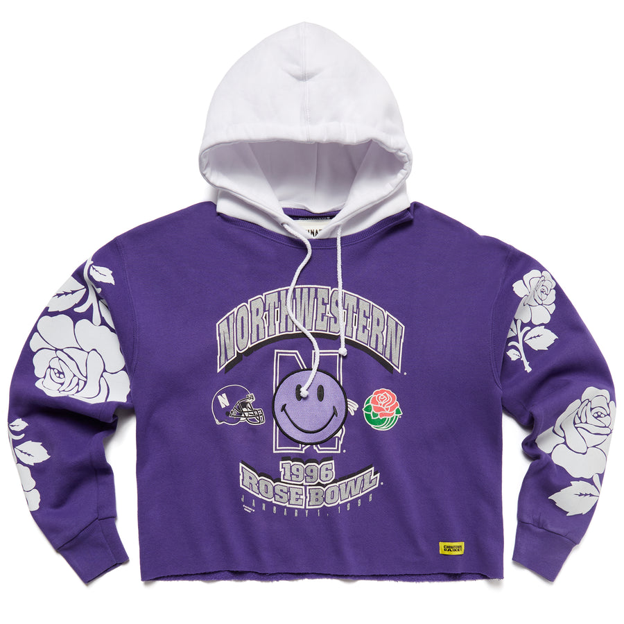 SMILEY ROSE BOWL REWORK HOODIE