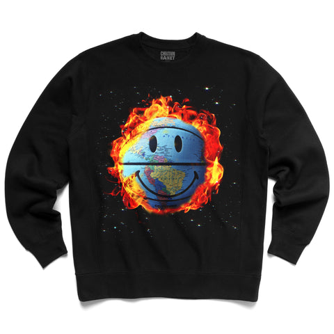 SMILEY GLOBE CREWNECK