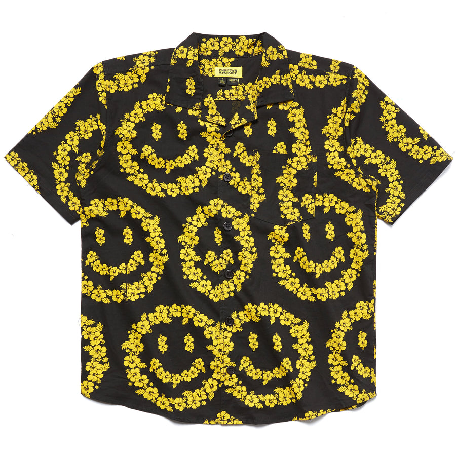 SMILEY FLORAL BUTTON UP