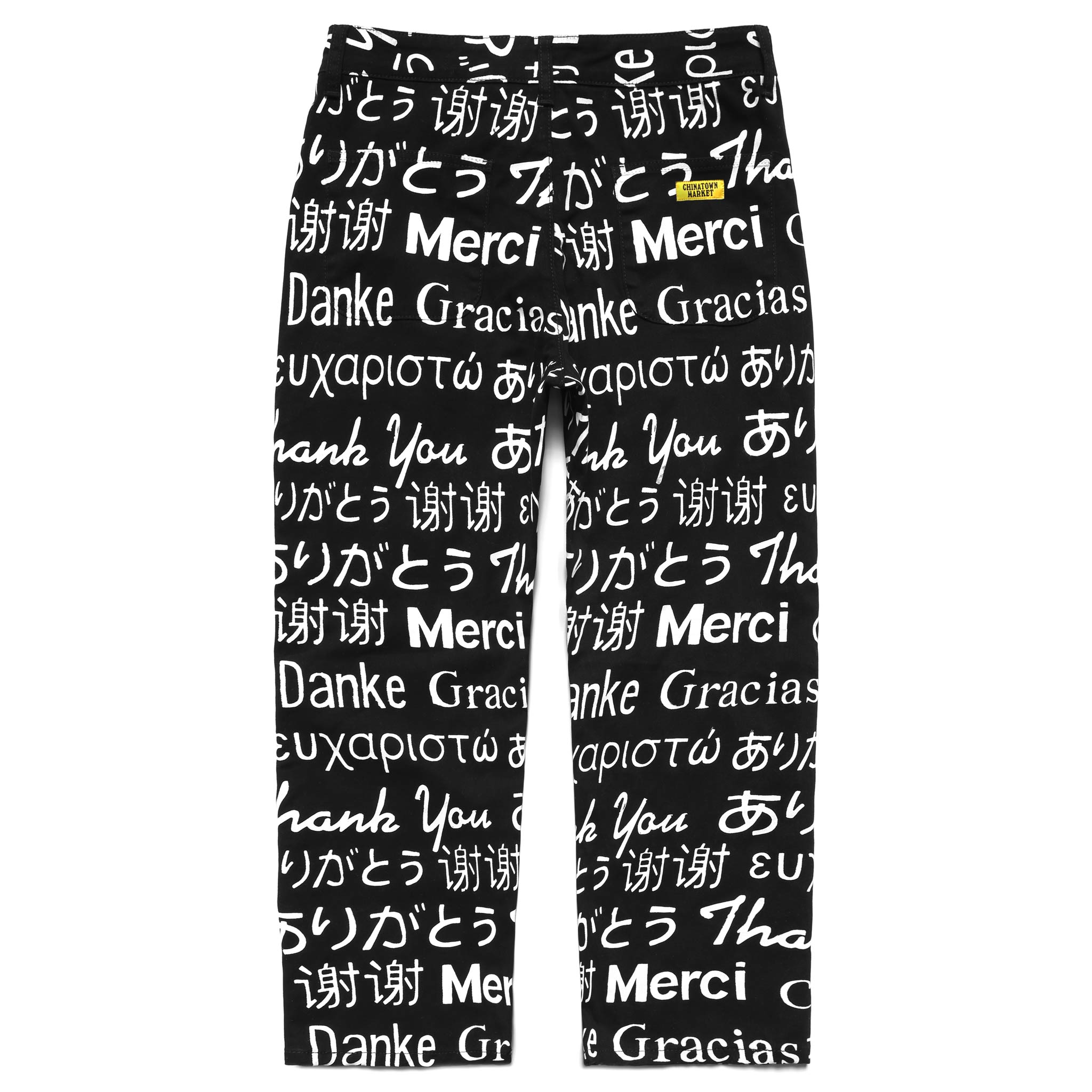 MULTI LANGUAGE DENIM PANTS (BLACK)
