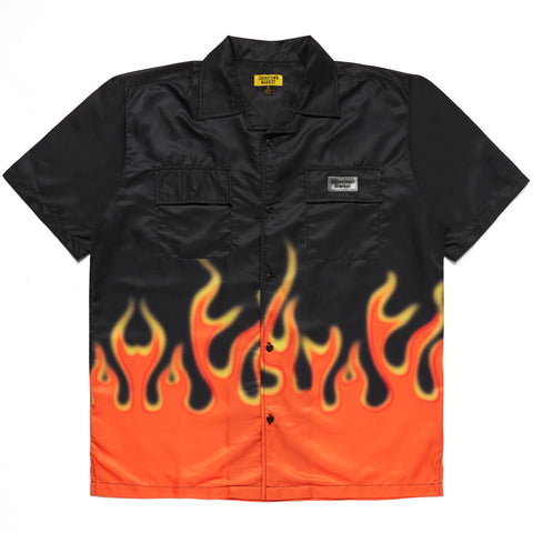 FIRE FLAME NYLON BUTTON UP