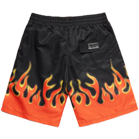 FIRE FLAME NYLON SHORTS