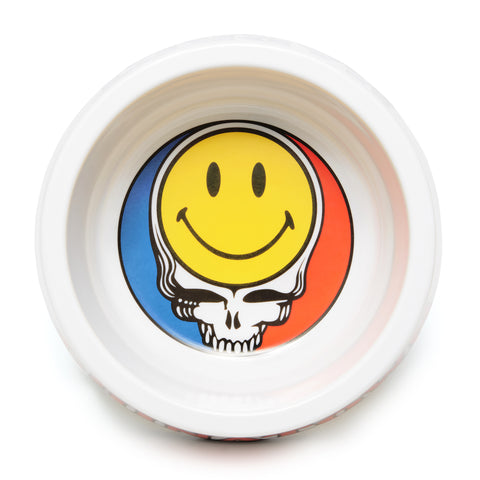 SMILEY STEALIE DOG BOWL