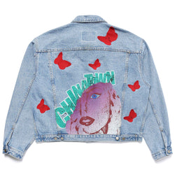 BYE BYE BUTTERFLY (DENIM JACKET)