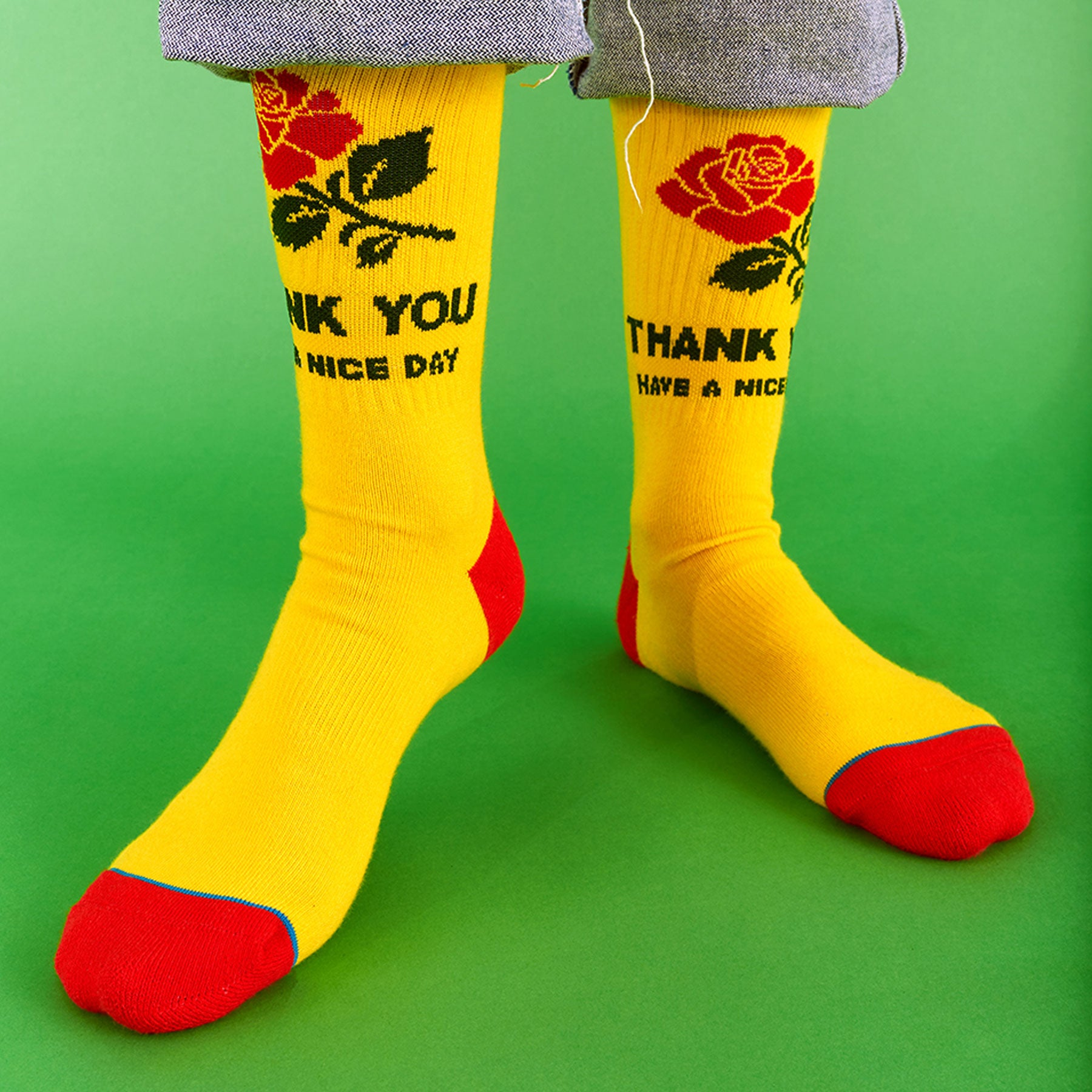 "CHINATOWN x STANCE ""THANK YOU"" SOCKS (YELLOW)"