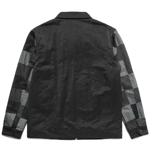 HALFTONE NYLON ZIP UP