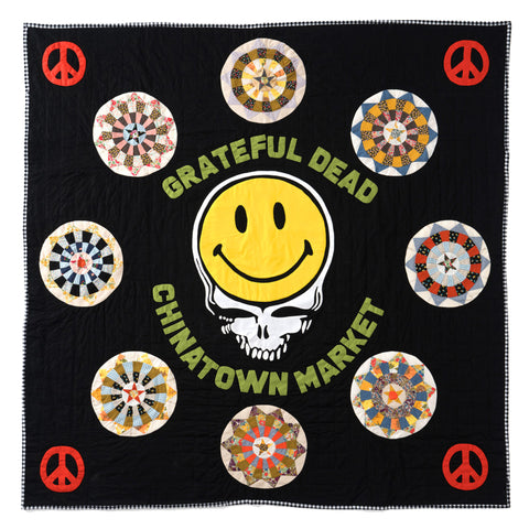 GRATEFUL DEAD DEGEN SMILEY QUILT