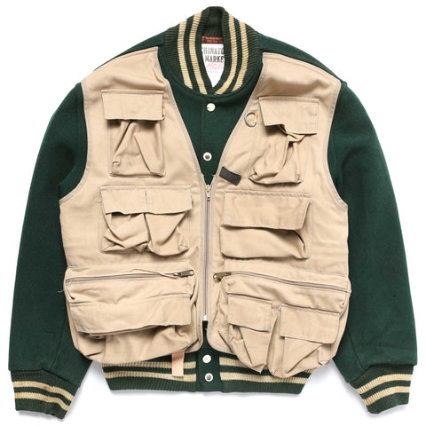 GONE FISHING (LETTERMAN JACKET)