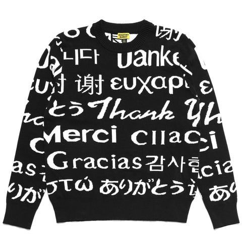 LANGUAGE KNIT SWEATER