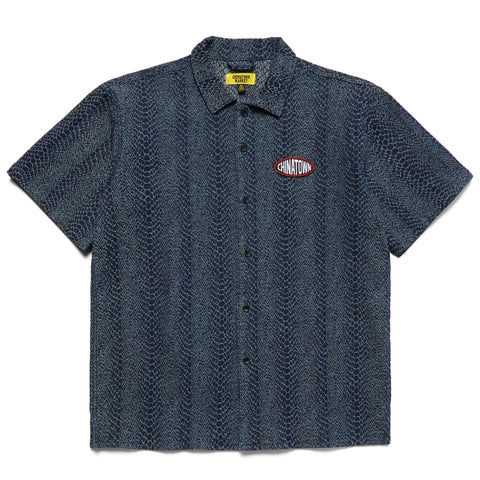 SNAKESKIN BUTTON UP