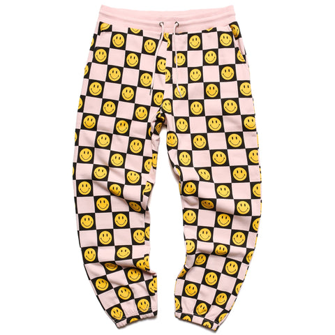SMILEY CHECKER SWEATPANTS