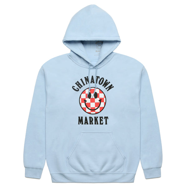 CHECKER LOGO HOODIE (LIGHT BLUE)