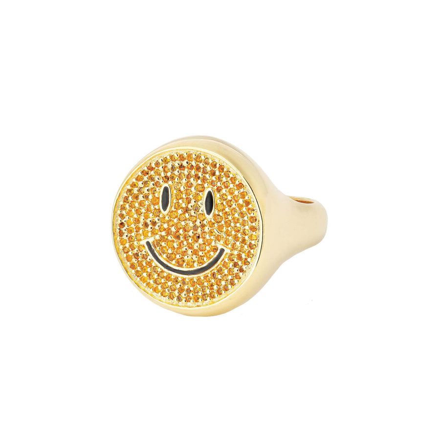 SMILEY GOLD RING