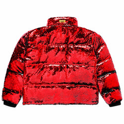 SEQUIN PUFFER JACKET
