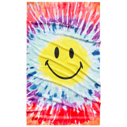 SMILEY TIE DYE TOWEL