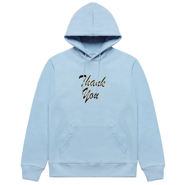 THANK YOU SCRIPT HOODIE (BLUE)