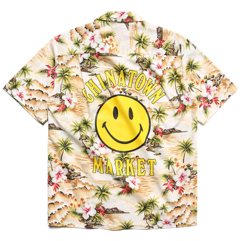 SMILEY LOGO HAWAIIAN SHIRT