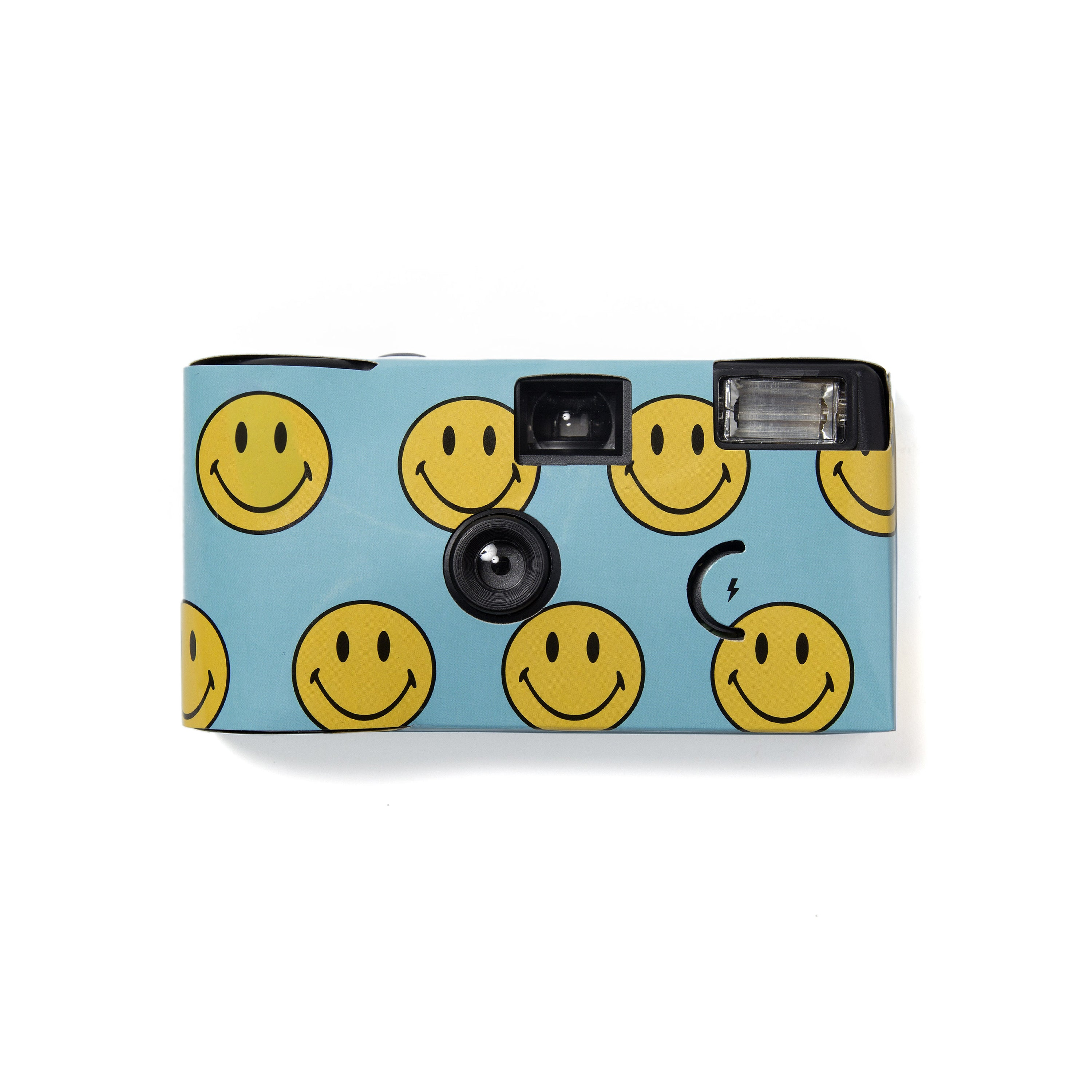 SMILEY DISPOSABLE CAMERA (BLUE)