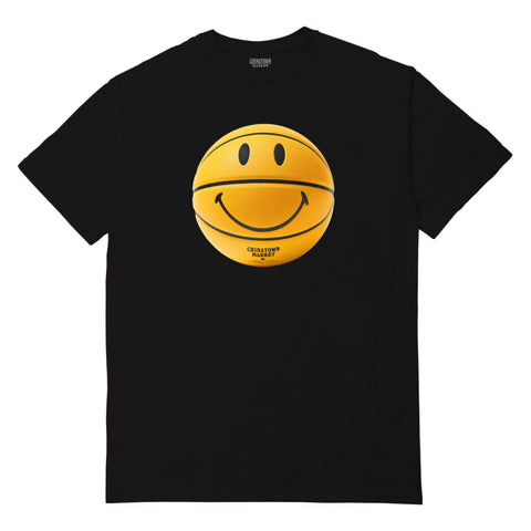 SMILEY BASKETBALL T-SHIRT (BLACK)