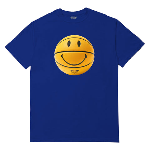 SMILEY BASKETBALL T-SHIRT (ROYAL BLUE)